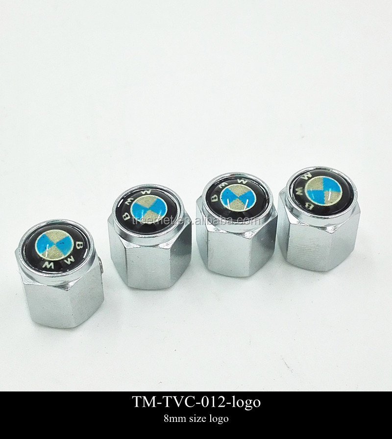 Auto Car Logo Emblem Tire Wheel Valve Stem Caps
