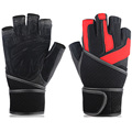BOODUN Wrist Fitness gloves Genuine Leather Half finger Professional Gym Weight lifting Training Body Building Sports