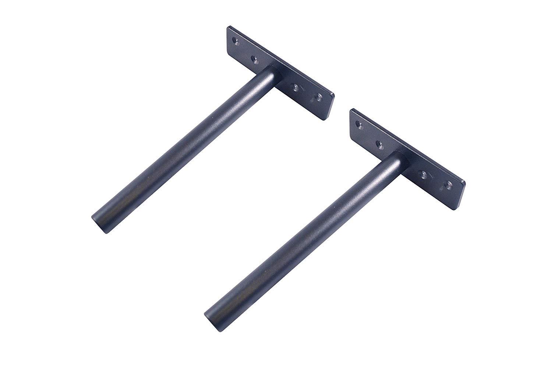 uComforts Floating Shelf Brackets Heavy Duty, 8 inch (Deep), Ideal for Stylish Floating Shelves, Easy Mount Shelves to Wall, Suitable for Custom Shelving, Hidden Shelves, Shelf Supports, Steel, Pair