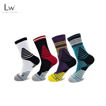 LW-B111 compression sock basketball compression socks for basketball