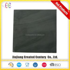 Smooth surface honed polished black slate tile for home