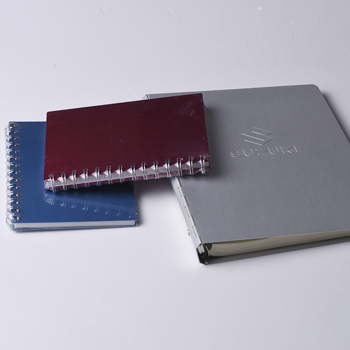 Elegant high quality emboss metal Aluminum notebook with ring binders
