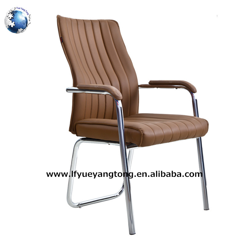 Cheap metal frame computer arm office chair leather conferernce desk