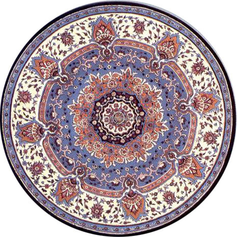 Flower design hand tufted carpet round carpet with pattern