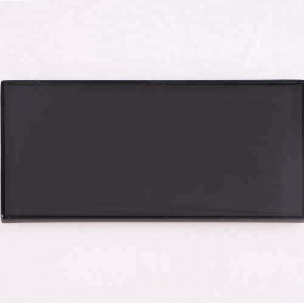 3D crystal clear black glass ceramic mosaic wall <strong>tiles</strong>