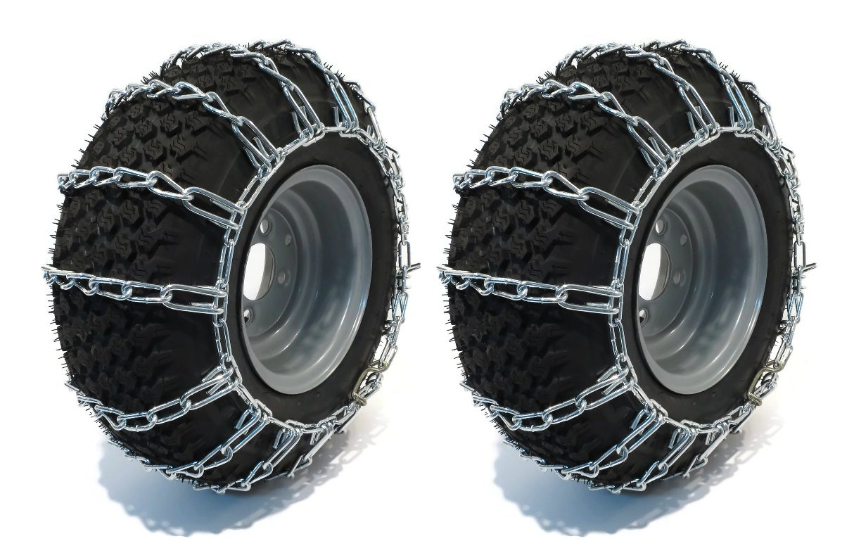Oregon 67-001 Lawn & Garden Tire Snow Chains With 2-Link Spacing Size 16X650-8 & 15X600-6 Tire Snows