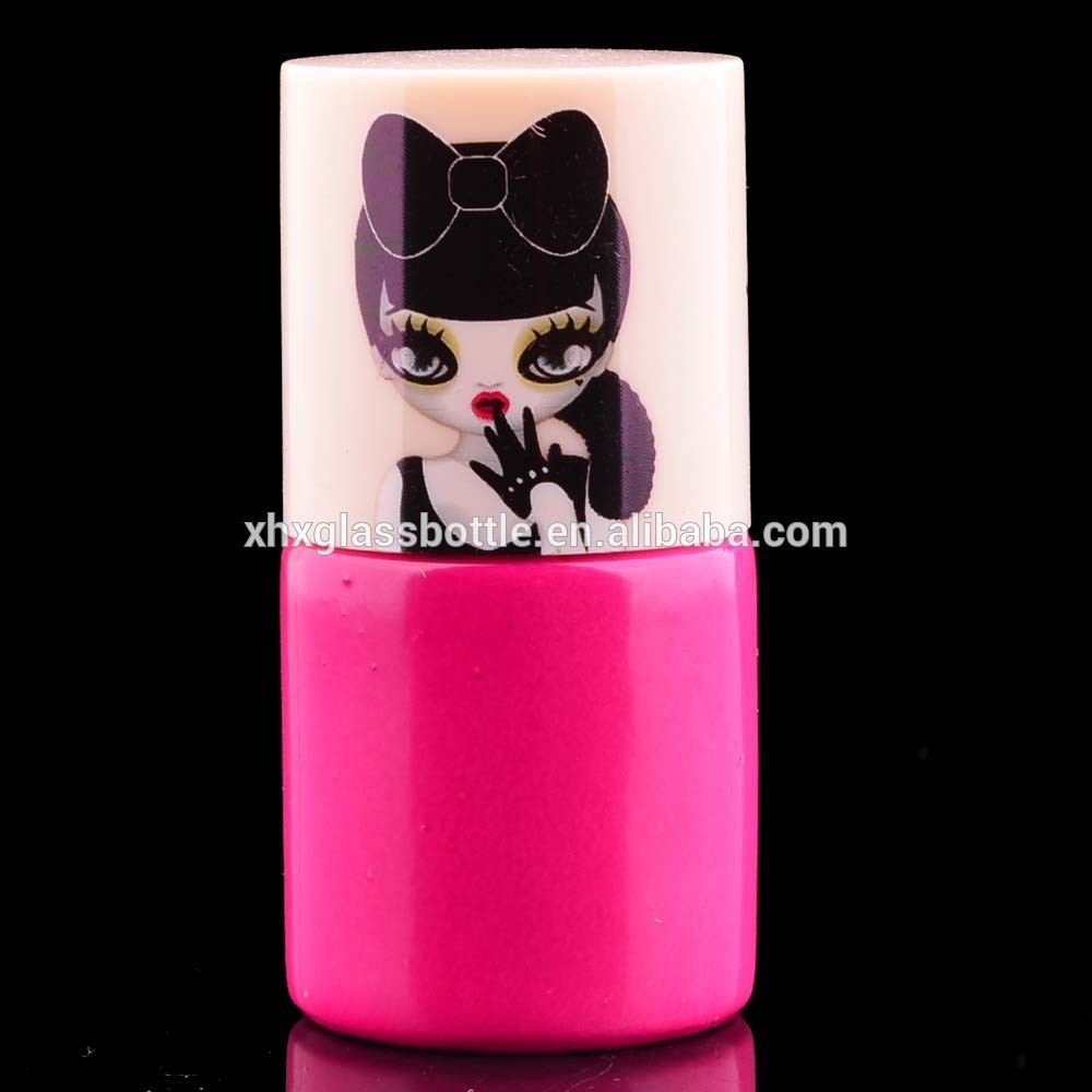 Round Shape 8Ml 10Ml 12Ml Pink Color Soak Off Uv&Led Gel Lacquer Bottle Nail Gel Polish Bottle And Round Decal Cap