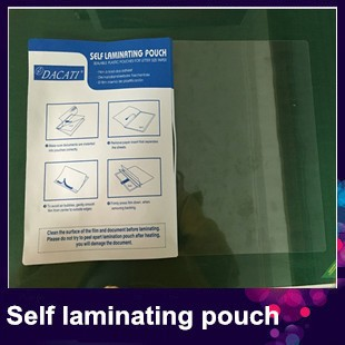 A4 size instant self adhesive laminating cards