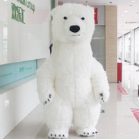 Cute Polar Bear Inflatable Costume Mascot For Advertising 2M 2.6M 3M For Suitable 1.6m To 1.95m Adult for Fancy Party Cosplay