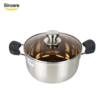Factory wholesale cheap stainless steel cookware soup stock pots cooking pots