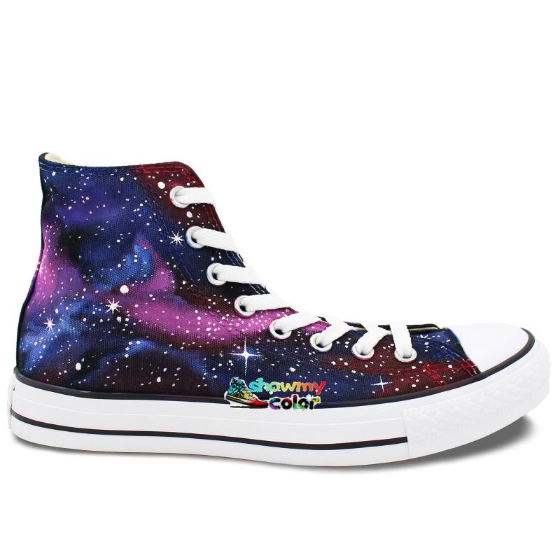 Galaxy Design Shoes Black Mens