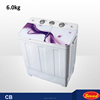 6.0kg houshold decorative washing clothes machine with CB