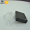 10g square shape cosmetic plastic loose powder jar with sifter