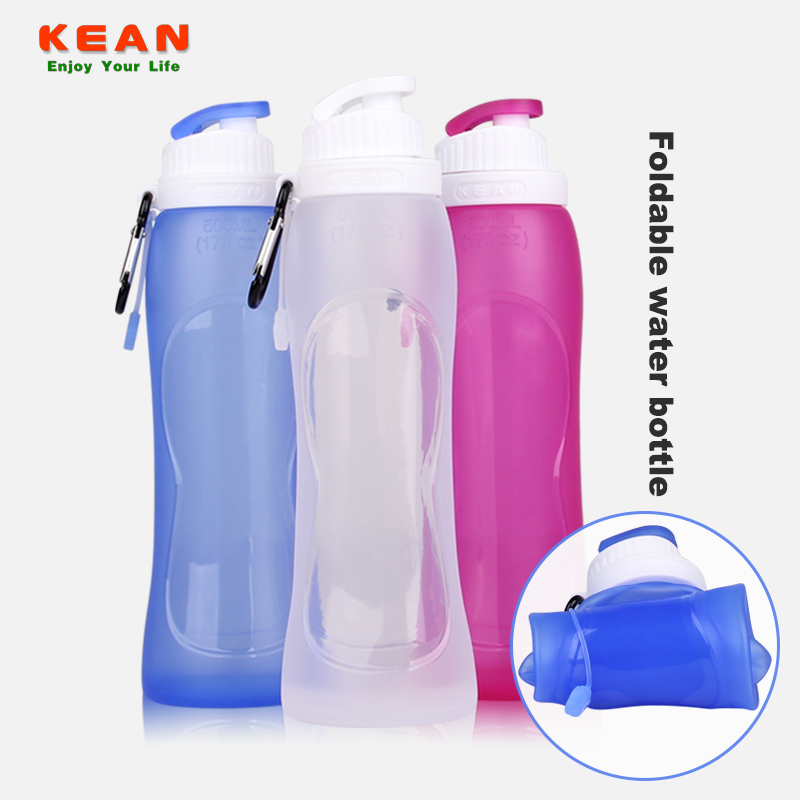 Folding Eco-friendly Outdoor Water Bottle BPA Free Go Camping Collapsible Sport Silicone Foldable Travel Bottle