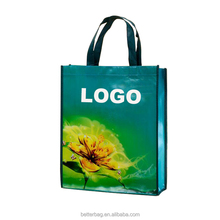 Eco Plastic Grocery Custom Logo Promotion Reusable Tote Recycle Carrier Shopping Pp Non Woven Bag