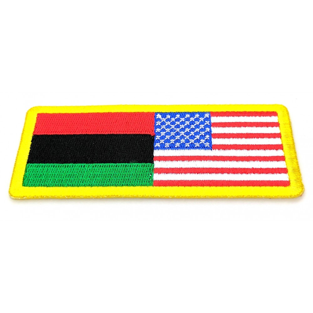 Free Sample African American Flag Embroidery Patches Badges
