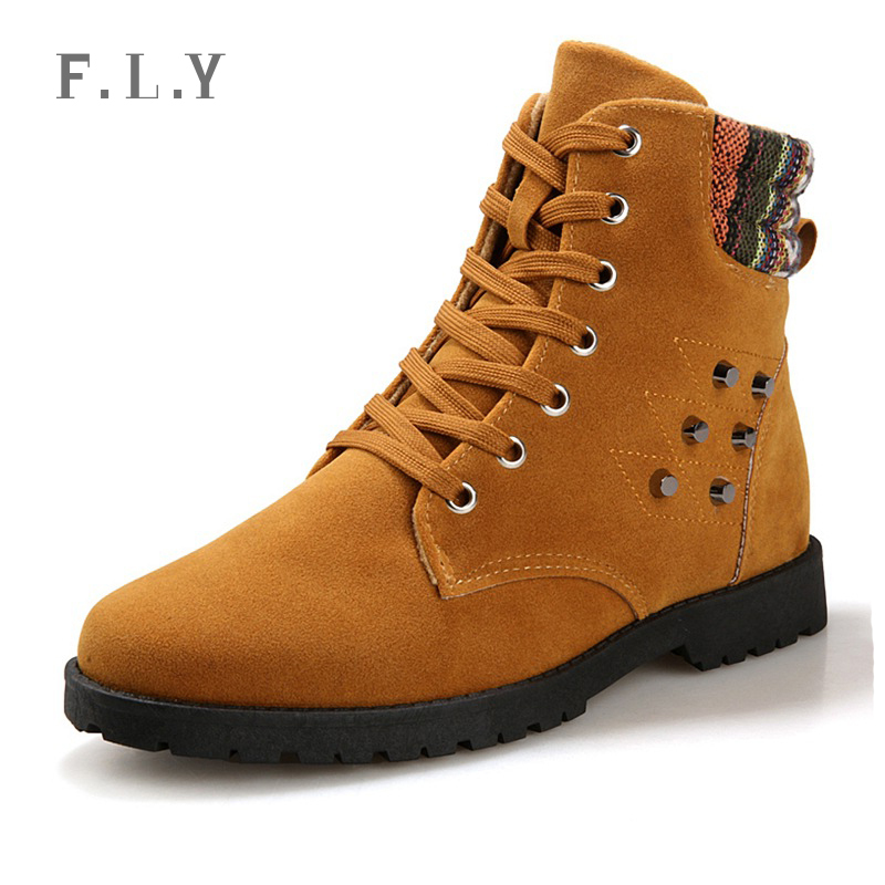ef14000e67 Get Quotations · 2015 fashion warm winter men PU leather boots male high-top  Rivets botas comfortable mens