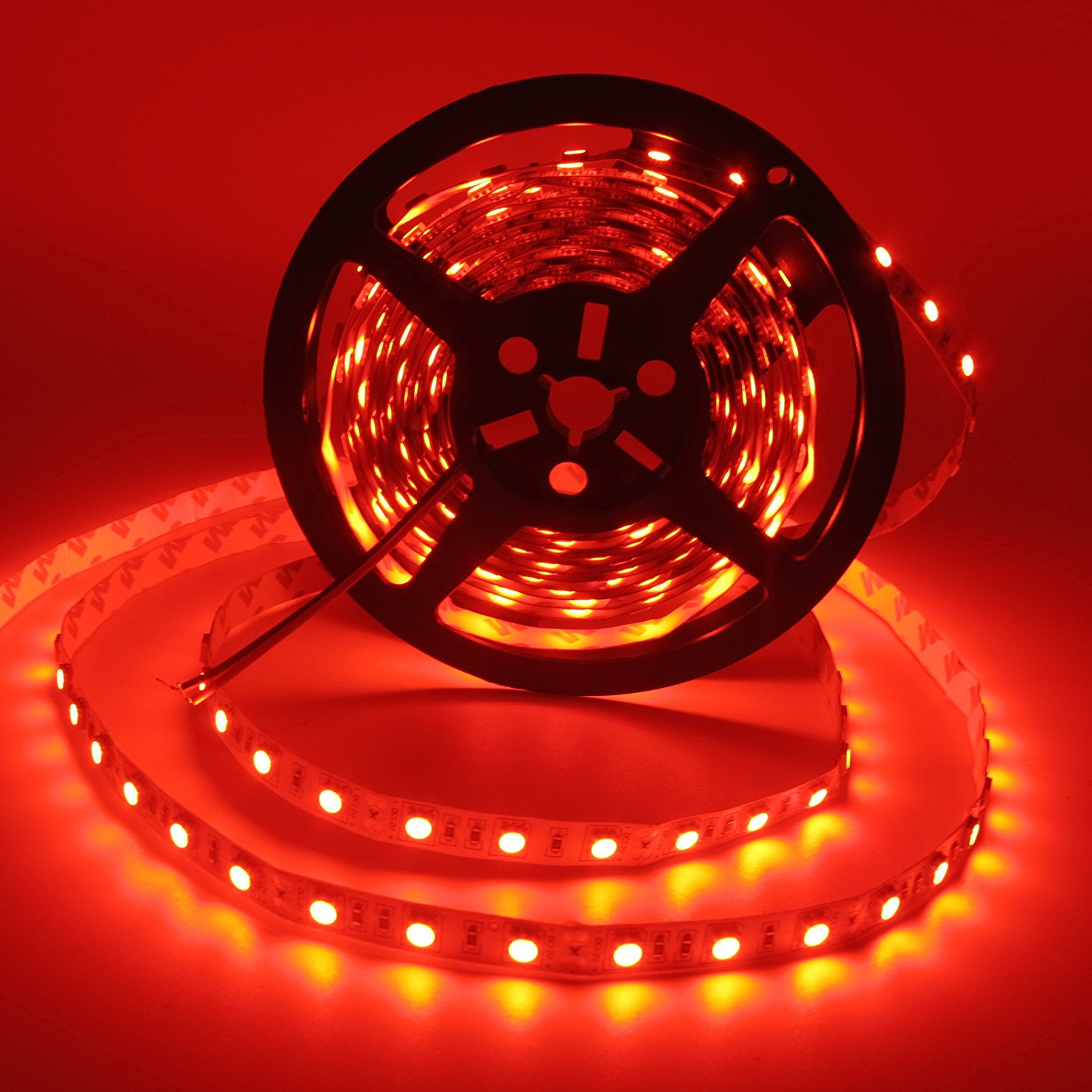 LED Strip Lights, SuperonlineMall™ 16.4FT 5M SMD 5050 No-Waterproof 300LEDs Flash Strip Light ,Ribbon LED Lighting Strip, 12V (Red)