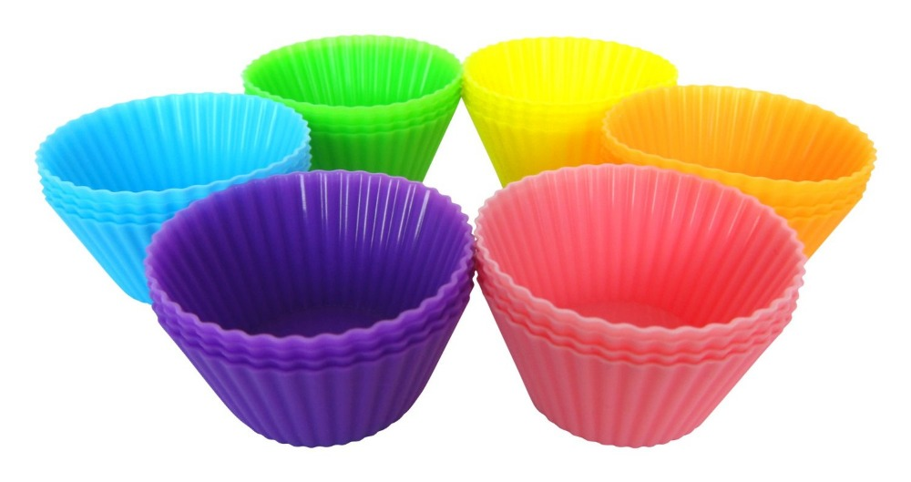Wholesale High Quality LFGB FDA Approved Food Grade Cupcake Cake Mold Silicone Muffin Cup 6 pcs A Set