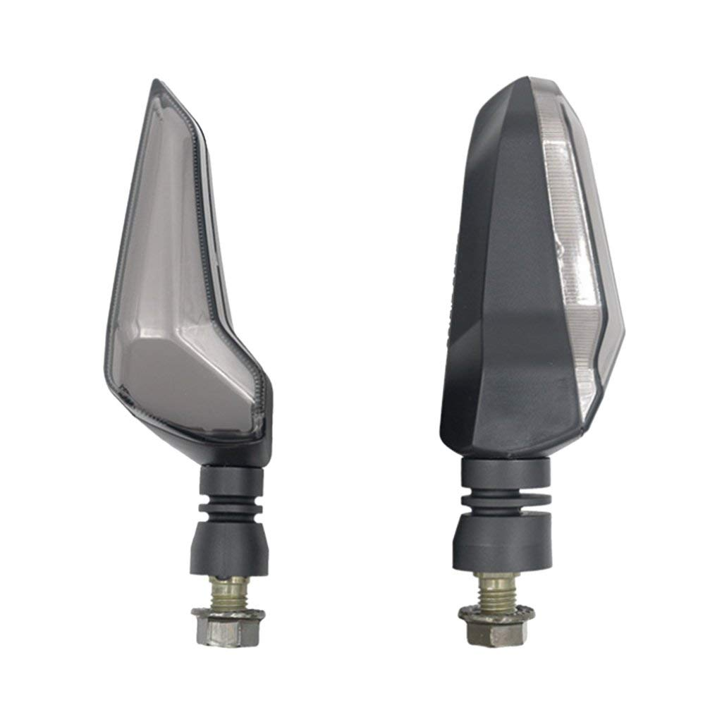 Homyl 1 Pair Plastic Motorbike Universal Blinker Indicators Turn Signal LED Lights ER107 12V - Red