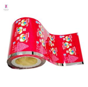 customized plastic PET/CPP roll film for snack food packaging