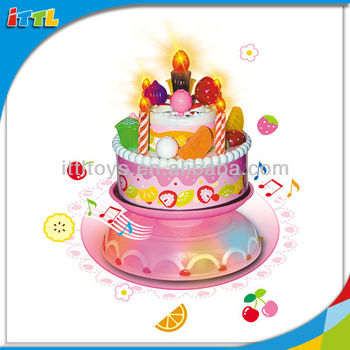 A224531 With Music Birthday Cake For Kids Plastic Toy