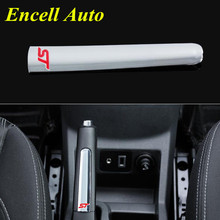 Car-Covers Words ABS Chrome Trim Handbrake Paillette Decoration Stickers Case For Ford Fiesta 2009 + Ecosport 2012 + Accessories