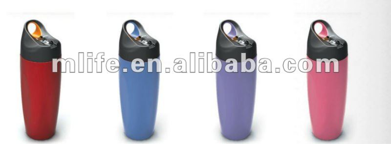 2012 new design easy take Food grade SGS BPA Free colorful stainless steel bottle