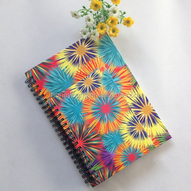 OEM wholesale promotional double wire bound cute spiral school notebook