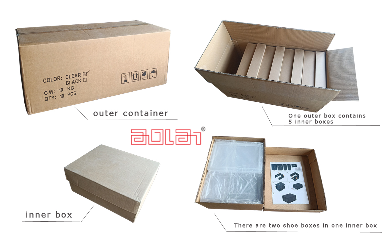 Best Selling Wholesale novel transparent clear plastic shoe box