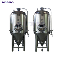 KUNBO 304 / 316 Stainless Steel Beer Fermentation Tanks Used Brewery Equip for Sale