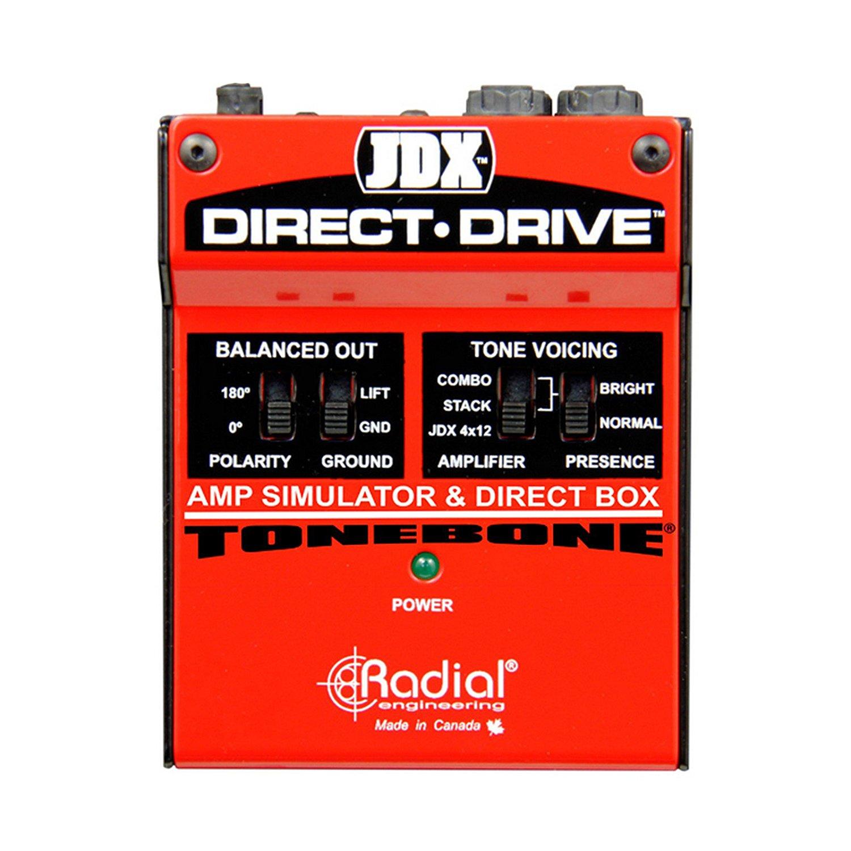 Radial JDX DIRECT DRIVE | Guitar Effects Pedal Stompbox Simulator and DI Box