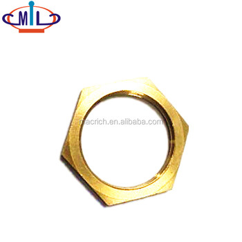 high quality brass 3mm thin thickness NPT screw nut
