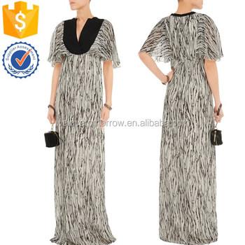 China New Design Women Short Sleeve Black Cotton-paneled Printed ...