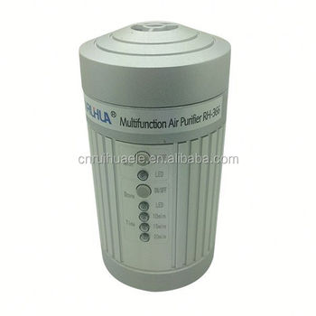 Grey color Mini Ozone Car Air Purifier