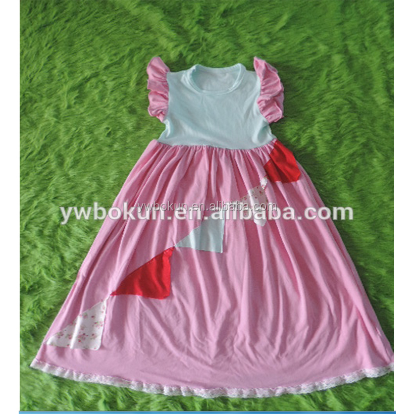 Baby Girls Prom Dress Children's Clothing Pink Fashion Tutu Maxi Dress Baby Clothes Custom