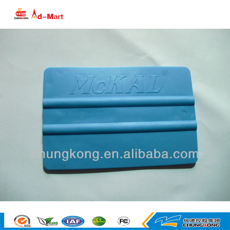 Plastic flexible squeegee for stickers