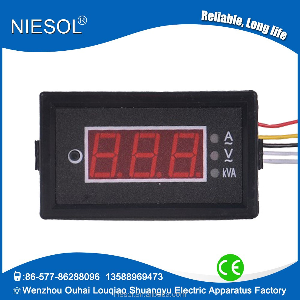 0-50A AC digital display power meter 85DM3-KVA , 0-500V AC digital wattmeter digital