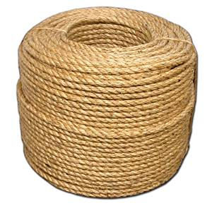 T.W . Evans Cordage 24-003 3/8-Inch by 600-Feet Grade Number-1 Manila Rope