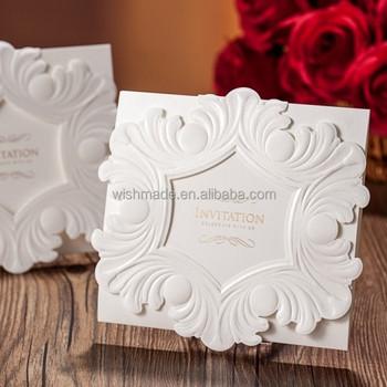 Classic pure white royal wedding invitation cards cw5055 view pure classic pure white royal wedding invitation cards cw5055 stopboris Choice Image