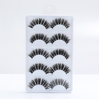 D007 Make Your Own Brand 5 Pairs Professional 3D False Mink Eyelashes Private Label For Women