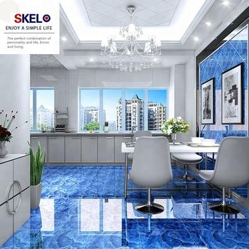 Glazed Porcelain Floor Tile Marine Blue