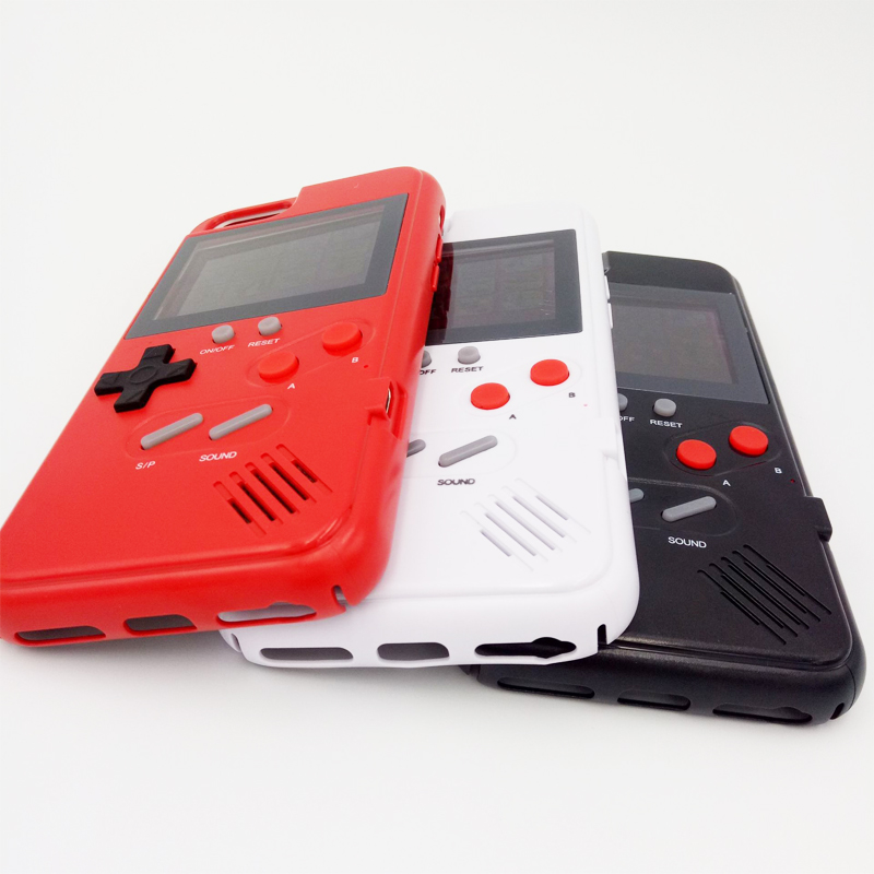 Kleur screen game Speelbaar TPU Console Cover Mobiele Mobiele Telefoon gameboy telefoon case voor iphones XS max X Xr 6 7 8 plus
