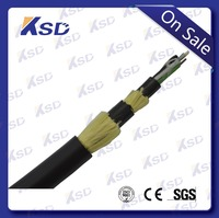 On sale All dielectric Self-supporting dual layers Aramid yarn Aerial ADSS fiber cable