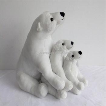Polar Bear Christmas Decoration Christmas Gift Polar Bear Plush ...
