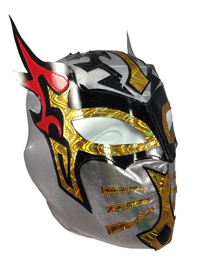 KIDS Costume Wear Party Pack Red//Black 2 pack SIN CARA Youth Lucha Libre Wrestling Mask