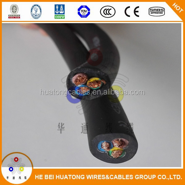 rubber insulated submersible water proof motor flexible cable