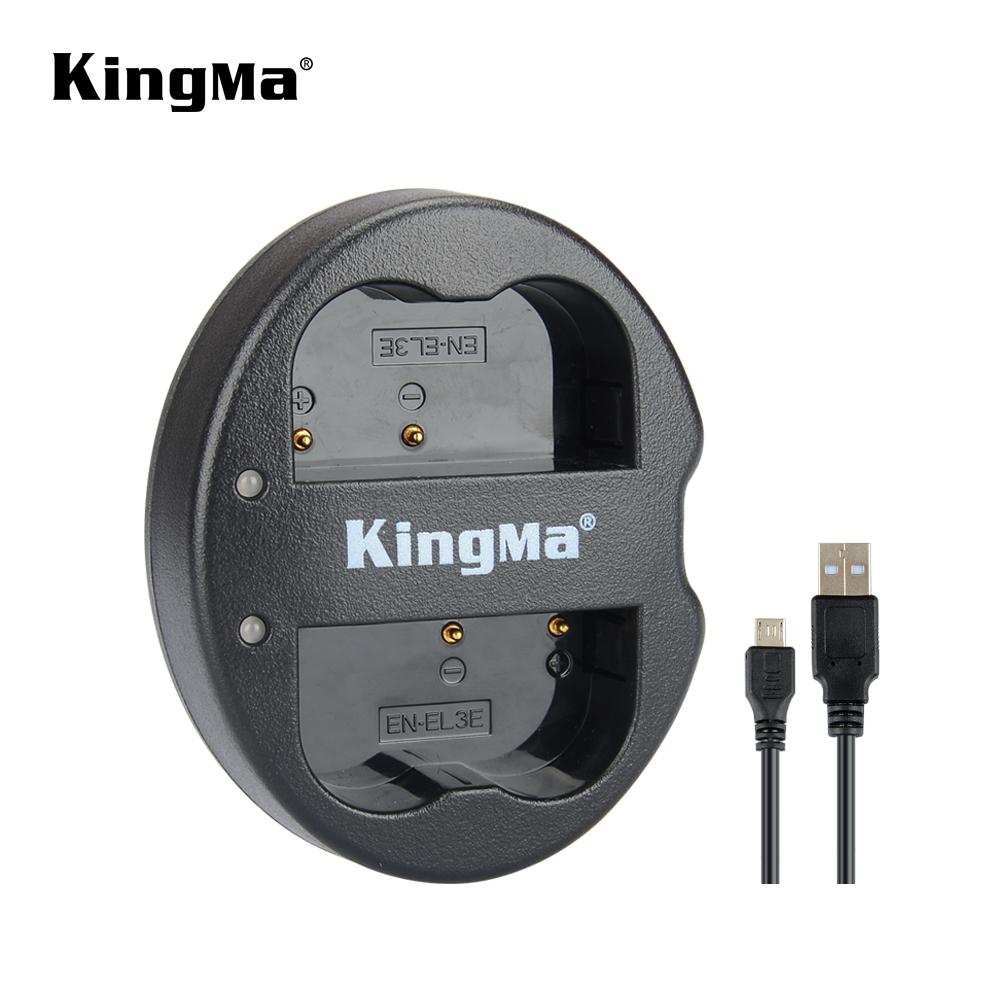 KingMa EN-EL3e USB Dual Charger for Nikon MH-18, MH-18a and Nikon EN-EL3, EN-EL3a, EN-EL3e for Nikon D50, D70, D70s, D80, D90, фото