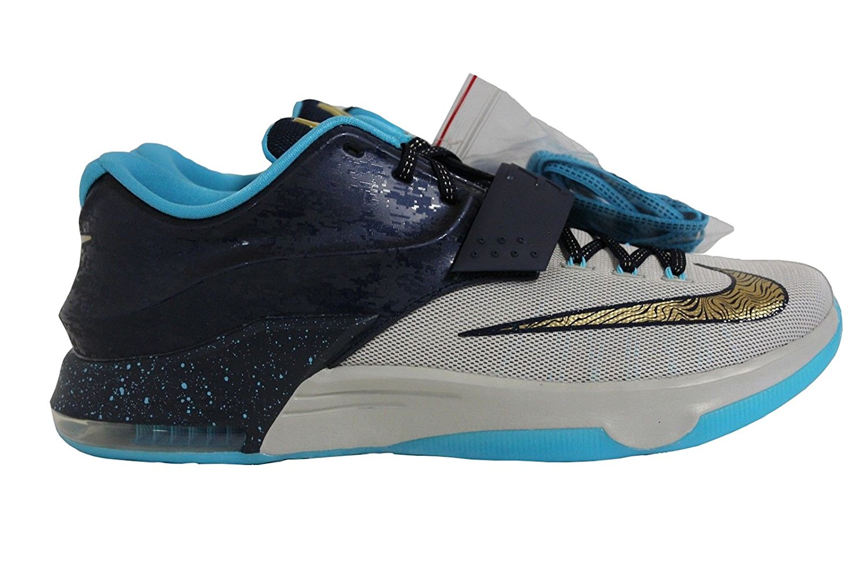 c84c638bf2f0 Nike KD VII Girl s EYBL Promo Sample Olympic Gold Kevin Durant 669942-474