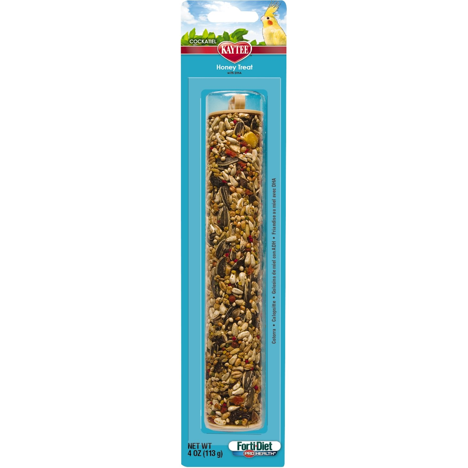 Kaytee Forti Diet Pro Health Honey Bird Stick Treats for Cockatiels, 4-Ounce